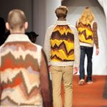 Models display a variation of Missoni's trademark zigzag stipes as part of the fashion label's Fall-Winter 2013-2014 Menswear collection in January 2013 during the Men's fashion week in Milan.Photo: Tiziana Fabi/AFP