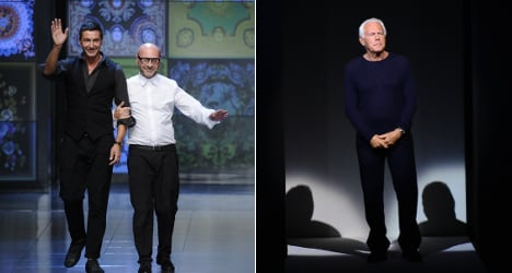 D&G and Armani struck off fashion week roster