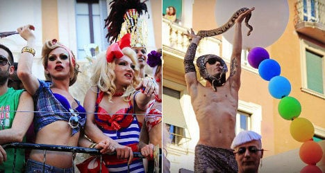 Tens of thousands march for Gay Pride in Rome