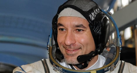 Italian astronaut delights in food from home