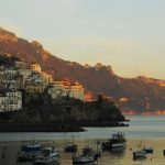 Sunset in Amalfi harbour.Photo: Laura Thayer