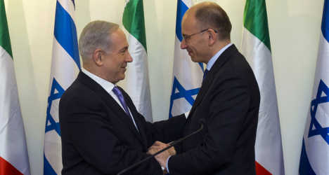 Letta discusses peace deal in Israel
