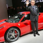 """The Ferrari 458 Speciale was unveiled at the Frankfurt Motor Show (IAA) on September 10th 2013 by Luca Cordero di Montezemolo, Ferrari's President (pictured). Described as """"the most high performance Ferrari V8 sports car ever"""", the car will go on sale for a whopping €238,000. Weighing just 1,290 kg, 90 less than the standard 458, it can reportedly sprint from 0 to 60 mph in less than three seconds.   Photo: AFP photo/DPA/ Frank Rumpenhorst"""