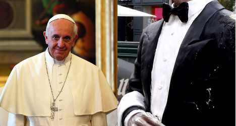 What will the Pope's butler see?