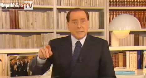 Berlusconi asks Italians to 'react and fight'