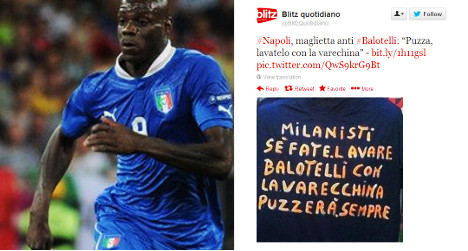 'Racist' Balotelli t-shirt 'sold' in Naples