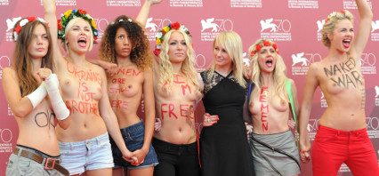 Topless activists steal the show in Venice