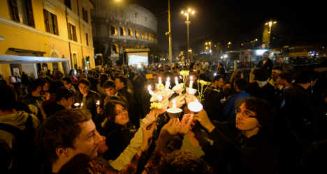 Suicide prompts candle-lit vigil for gay rights