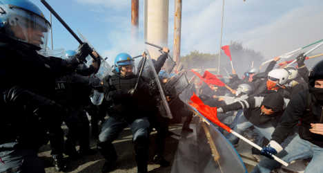 Italian police gear up for Rome protest