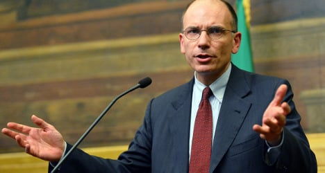 Letta sweeps up votes after Berlusconi U-turn