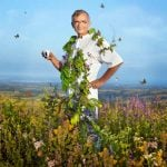 """Michel Bras, who also boasts three Michelin stars, features in spring from his vegetable garden in Provence. The French chef is described by Lavazza as the """"undisputed master of wild herbs"""". His Bras restaurant in southern France is closed for the winter, but diners will already be booking their tables for next season from January.Photo: Martin Schoeller/Lavazza"""