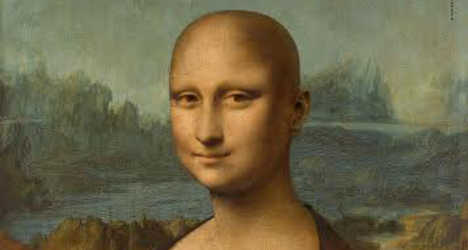 Mona Lisa goes bald in fight against cancer