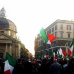 """Demonstrating against Italy's widely discredited political class, protesters chanted """"Go home!"""" and """"Go and work!""""Photo: Rosie Scammell/The Local"""