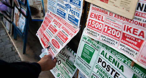 Jobless rate hits new record in Italy