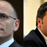 """Florence Mayor Matteo Renzi (R) ousted Prime Minister Enrico Letta in February, just weeks after the Tuscan politician was named leader of Italy's Democratic Party (PD). Letta had been in power little over nine months when he was swept aside, with <a href=""""""""http://bit.ly/1Hax3pG"""""""">Renzi winning popular support despite not facing a national election.</a>Photo: Tiziana Fabi/AFP"""