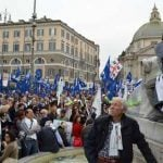 """The protest was organized by the Italian Enterprise Network (Rete Imprese Italia) along with a number of business associations, under the banner """"Without business there is no Italy. Reclaim the future.""""Photo: Rosie Scammell"""