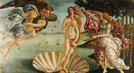 Spaniard strips in front of Botticelli masterpiece