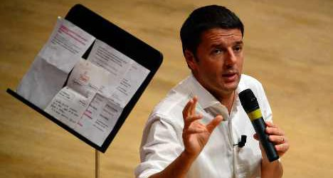 Renzi makes the pizza case for Italy change