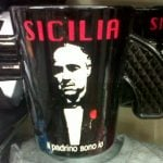 <b>Godfather mug:</b> Fans of The Godfather films are probably the most likely buyers of this mafia mug keepsake, but romanticizing the notorious crime group has caused uproar in parts of Italy.Photo: The Local