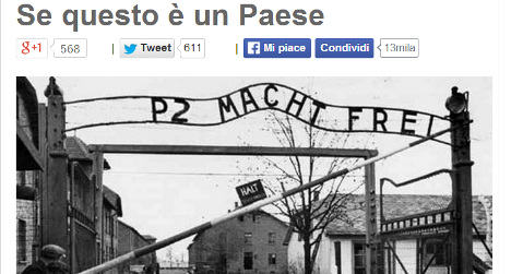 Beppe Grillo attacked for Holocaust poem parody