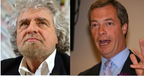 'We're rebels with a cause': Grillo to Farage