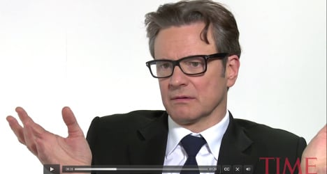 Colin Firth swearing in Italian goes viral
