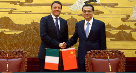 'We need more Chinese investment in Italy': Renzi
