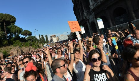 Thousands join Rome's Gay Pride march