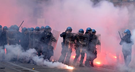 Protesters arrested over Rome violence