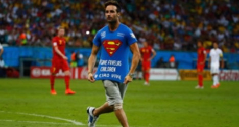 Italy's 'Superman' charged for pitch stunt