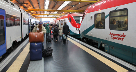 Man killed by train on Rome airport line