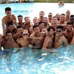 Time to relax in the pool, before the competition heats up.Photo: Beate A Tecza/MrGayWorld.com