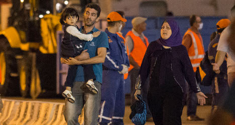 Saved migrants demand to be sent to Italy