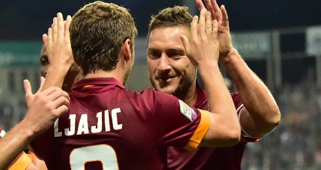 Italy and England unite in Totti adoration