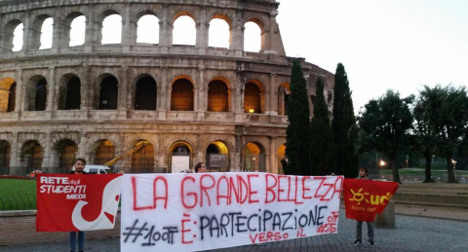 Italian students protest labour reforms