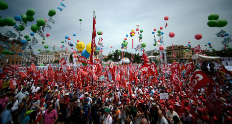 Up to a million to march for jobs creation in Rome