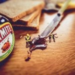 Marmite. Why sample a sachertorte or suck on a Swedish meatball when you could be spreading on your bread this by-product of beer brewing. Only a crazy person would risk foreign foods when faced with such a basic choice.Photo: Ben K Adams