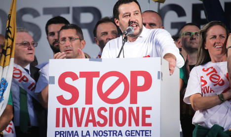 Far-right leader woos recession-weary Italians