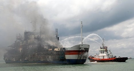 Blaze-hit ferry death toll rises to eight