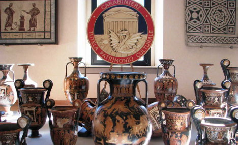 Italy seizes more than 5,000 looted artefacts
