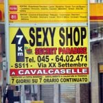 """<b>Sexy shop.</b> Hmmm. Which shops do you find sexy? Can't think of any offhand. In Italy, however, """"sexy shops"""" are what English speakers would call sex shops. Sounds much nicer, actually - maybe we should adopt that one. Photo: Chris Sampson/Flickr"""