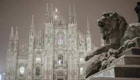 Cold snap brings heavy snow to Italy