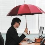 <b>Don't open an umbrella indoors -</b> When you're escaping the pouring rain this winter it's easy to forget to close your umbrella before rushing inside. But compared to years of bad luck from having an open umbrella indoors, having those few extra seconds of rain might not seem like such a bad idea after all... Photo: Shutterstock