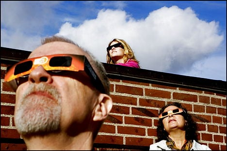 Don't look directly at the sun. Photo: Linda Kastrup/Scanpix