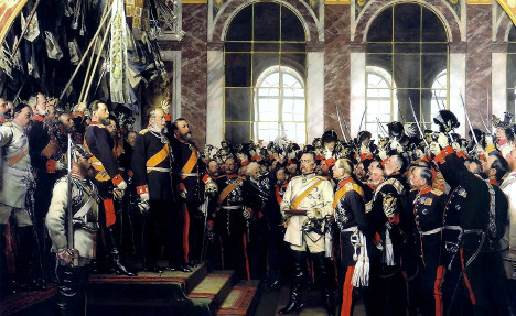 Proclamation of the German Empire in 1871, (Anton von Werner, 1885). Source: Wikimedia Commons