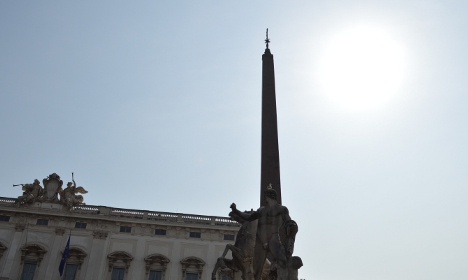 Rome eclipse. Photo by Rosie Scammell