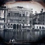 The Grand Canal and the Casa d'Oro under restoration, by an unnamed French photographer. 1845.Photo: K. & J. Jacobson