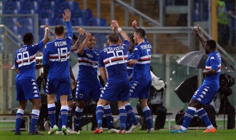 Italian title race all but over as Samp beat Roma