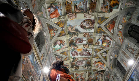 Homeless get private tour of Sistine Chapel
