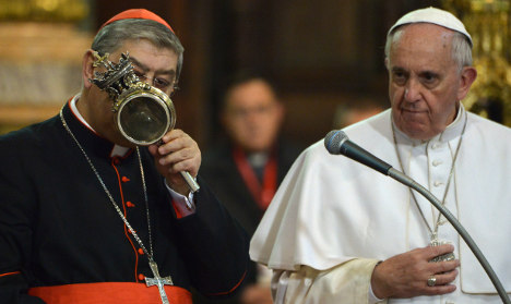 Pope Francis's 'half-miracle' in Naples